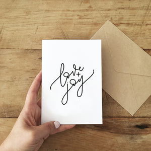 Load image into Gallery viewer, 'Love + Joy' Blank Card