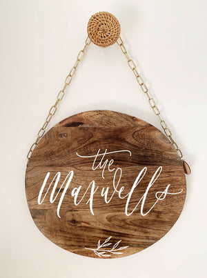 'The Minimalist' Family Plaque