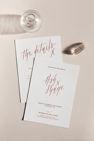 With Love 2-Piece Invitation Suite