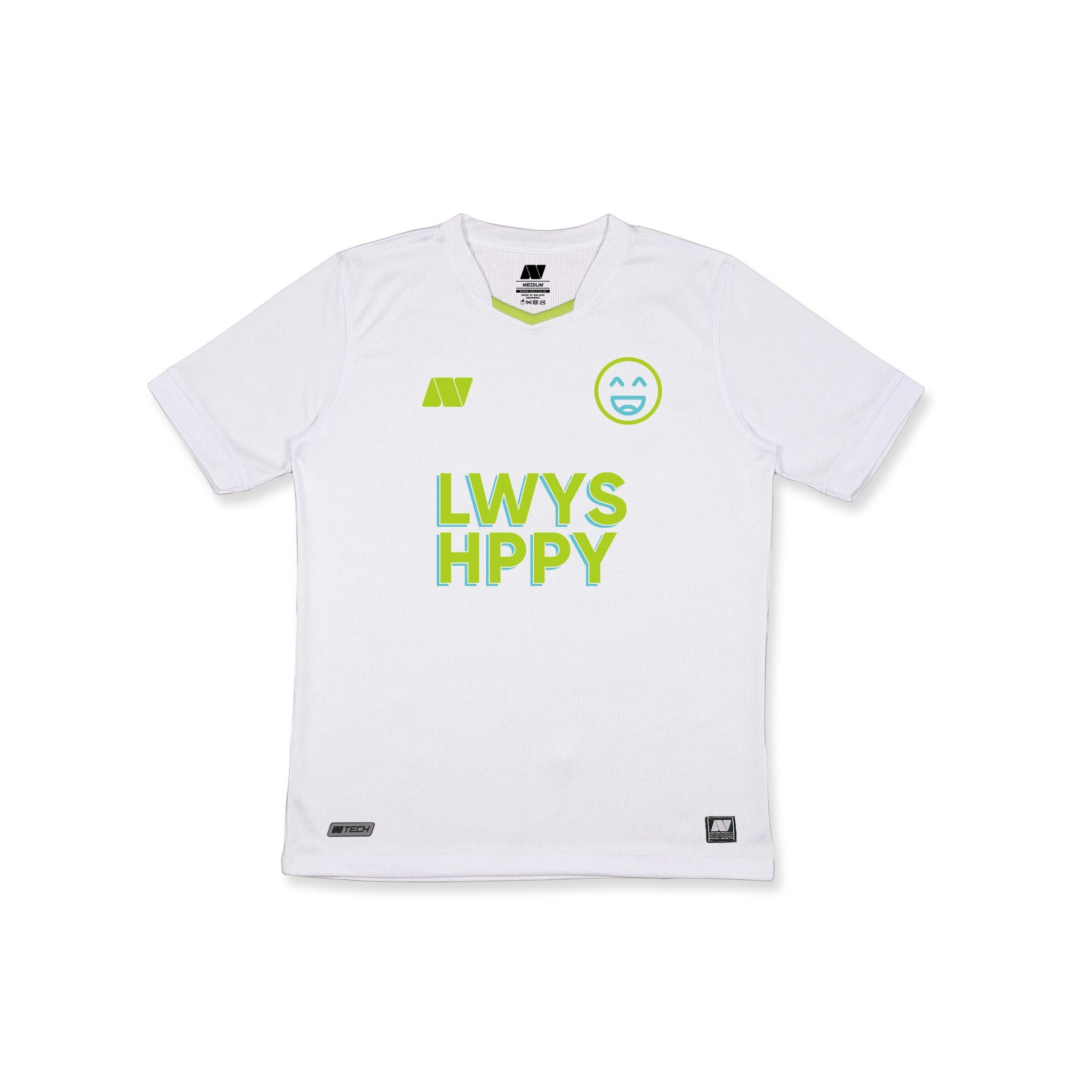 "JERSEY ""LWYS HPPY"" WHITE"