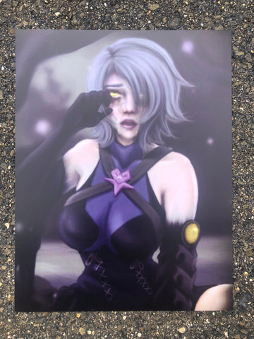 Dark Aqua Kingdom Hearts Art Print