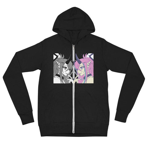 Devious Drawing Unisex zip hoodie