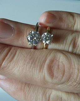 See How Big a 2ct Diamond Engagement Ring When Compared to 1ct a415ade6087f
