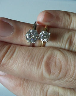 See How Big a 2ct Diamond Engagement Ring When Compared to 1ct