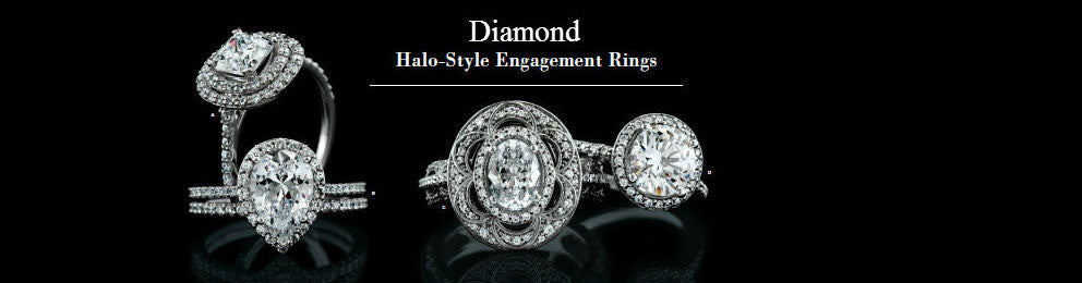 Diamond Halo Style Engagement Rings