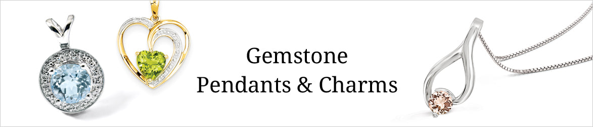 Gemstone Pendants and Charms
