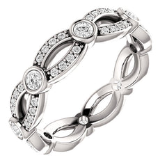 Infinity Style Diamond Eternity Ring