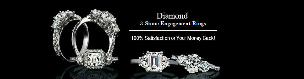 Diamond Three Stone Engagement Rings