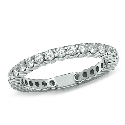 1 ct. tw. Diamond Eternity Band Ring 14K White Gold