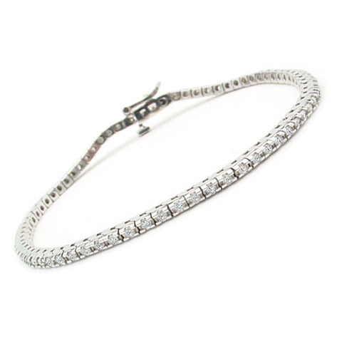 1 ct. tw. White Gold Classic Four-Prong Diamond Tennis Bracelet