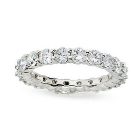 3 ct. tw. Diamond Eternity Band Ring 14K White Gold