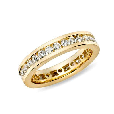 1 ct. tw. Kanal Set Diamond Eternity Band Ring 14 Karat Gelbgold