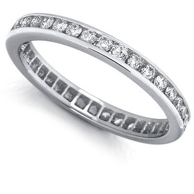1/2 ct. tw. Channel Set Diamond Eternity Band Ring 14K White Gold