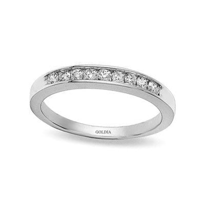 1/4 ct. tw. Channel Set Diamond Semi-Eternity Band Ring 14K White Gold