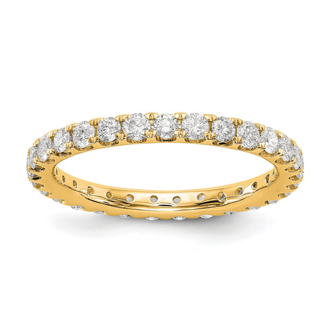 1 ct Natural Diamond Wedding Ring Womens U-Prong Eternity Band 14k Yellow Gold