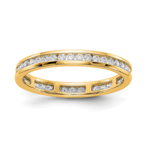 1/2 CT Channel Set Diamond Eternity Wedding Band Ring in 14k Yellow Gold