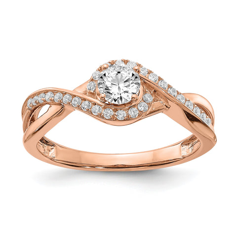 1/2 Ct. Natural Diamond Infinity Love Engagement Bridal Ring 14K Rose Gold