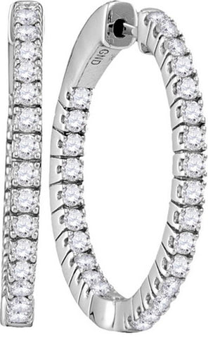1 7 / 8CTW-Diamond HOOPS OHRRINGE