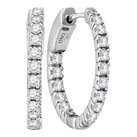 1 1/2CTW-Diamond HOOPS EARRINGS