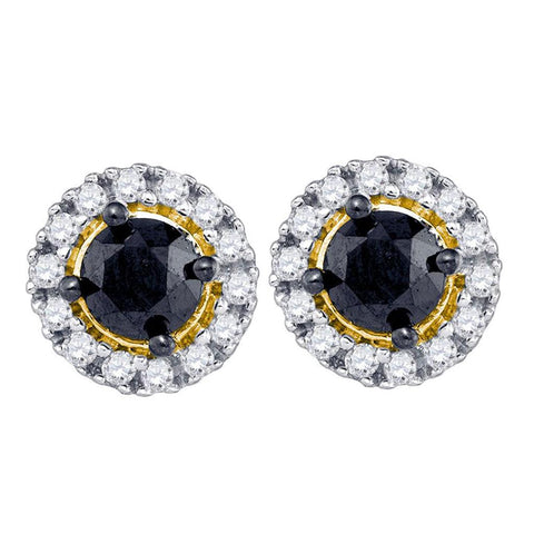 1 CTW-Diamond BLACK DIAMOND OHRRINGE