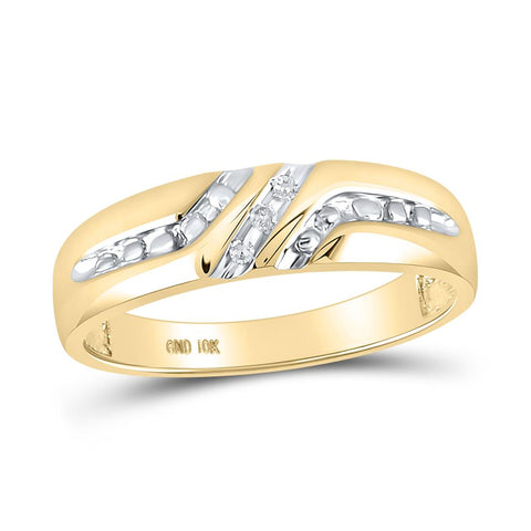 0.03CT-Diamond FASHION MENS BAND