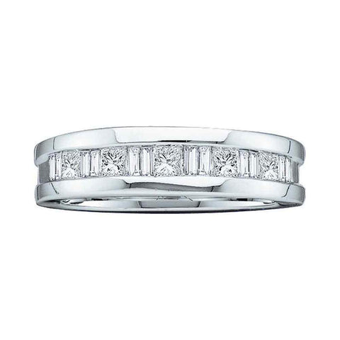 1 1/2CT-Diamond INVISIBLE MENS BAND