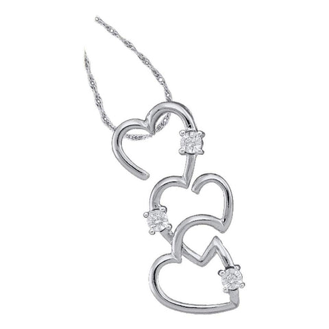 0.03CT-Diamond HEART PENDANT
