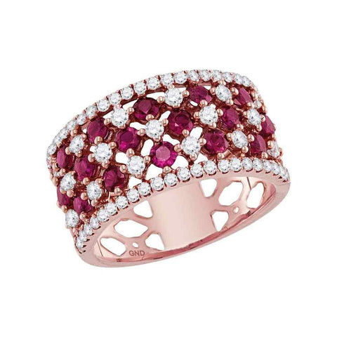 3/4CTW-DIA 1 CT-RUBY RING