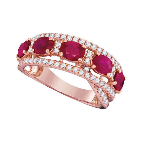 5/8CTW-DIA 2 CT-RUBY RING