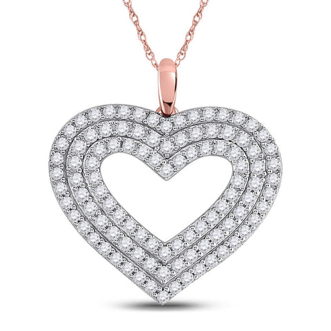 1 CTW DIAMOND HEART PENDANT