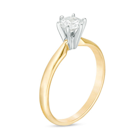 1/2 CT. Diamant Solitaire Verlobungsring in 14 Karat Gold