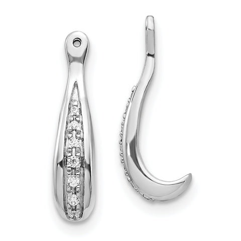 14K White Gold Diamond Earring Jackets