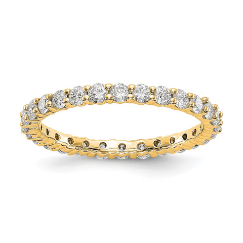 1.0ct Natural Diamond Wedding Ring Womens Stackable Eternity Band 14k Yellow Gold