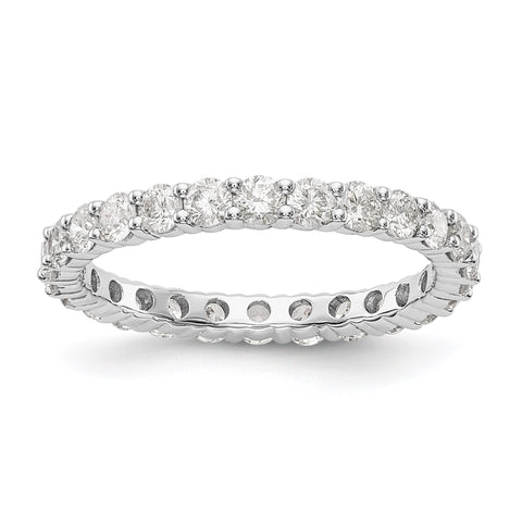 1.50 Ct. Natural Diamond Womens Eternity Wedding Band Ring in 14k White Gold