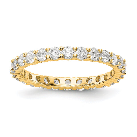 1.50 Ct. Natural Diamond Womens Eternity Wedding Band Ring in 14k Yellow Gold