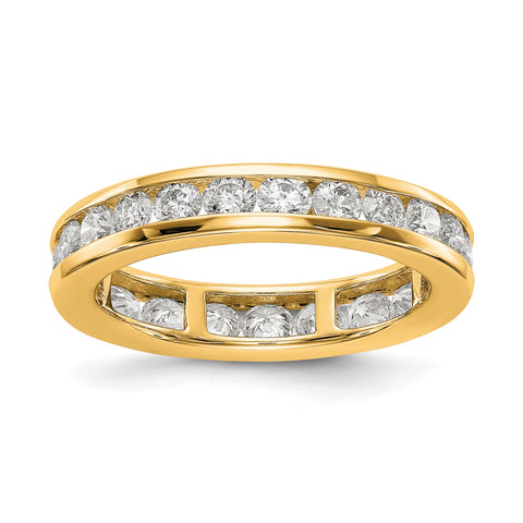 1 1/2 Ct. Natural Diamond Womens Eternity Anniversary Wedding Band Ring in 14k Yellow Gold