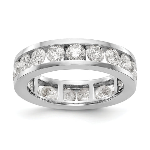 14k White Gold Polished 3ct Channel Set Diamond Eternity Band