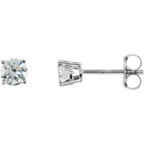 1/2 CTW Diamond Earrings in 14kt White Gold