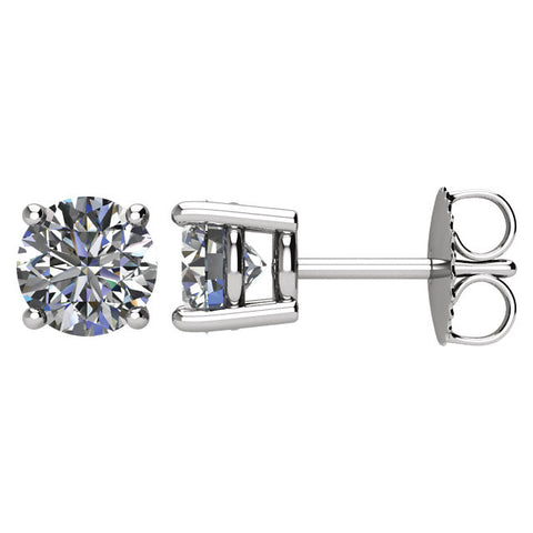 1 1/2 CTW Diamond Earrings in 14kt White Gold