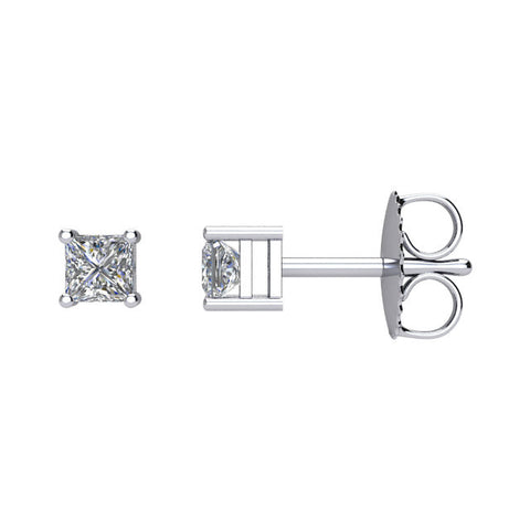 1/3 CTW Diamond Earrings in 14kt White Gold