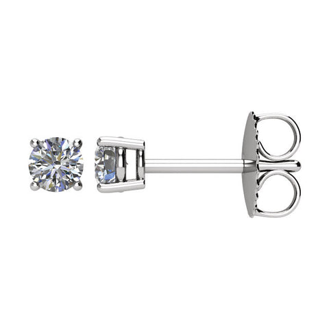 1/3 CTW Diamond Friction Post Earrings in 14kt White Gold