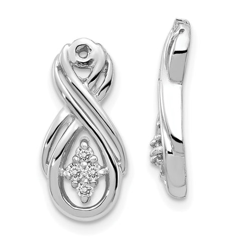 14k White Gold VS Infinity Diamond Earring Jacket