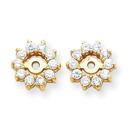 1/3 Ct. Natural Diamond Earring Jackets in 14K Yellow Gold