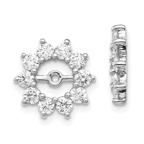 14k White Gold VS Fancy Diamond Earring Jacket