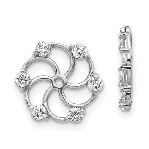 14k White Gold VS Diamond Earring Jacket