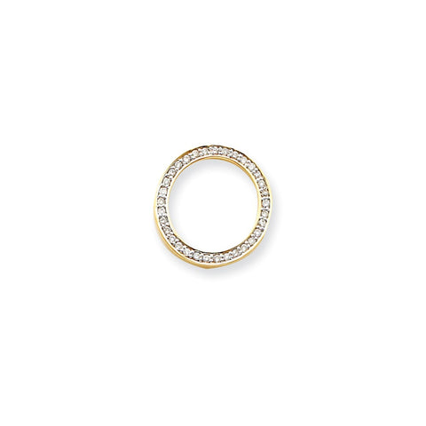 14k Yellow Gold Diamond Circle Pendant