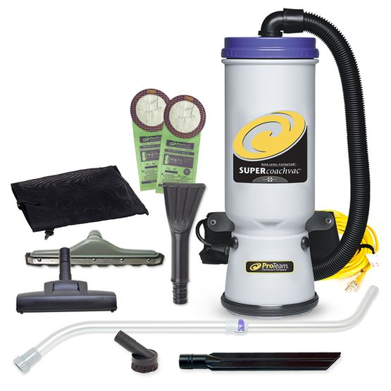 Super CoachVac Backpack Vacuum w/ Residential Cleaning Service Tool Kit