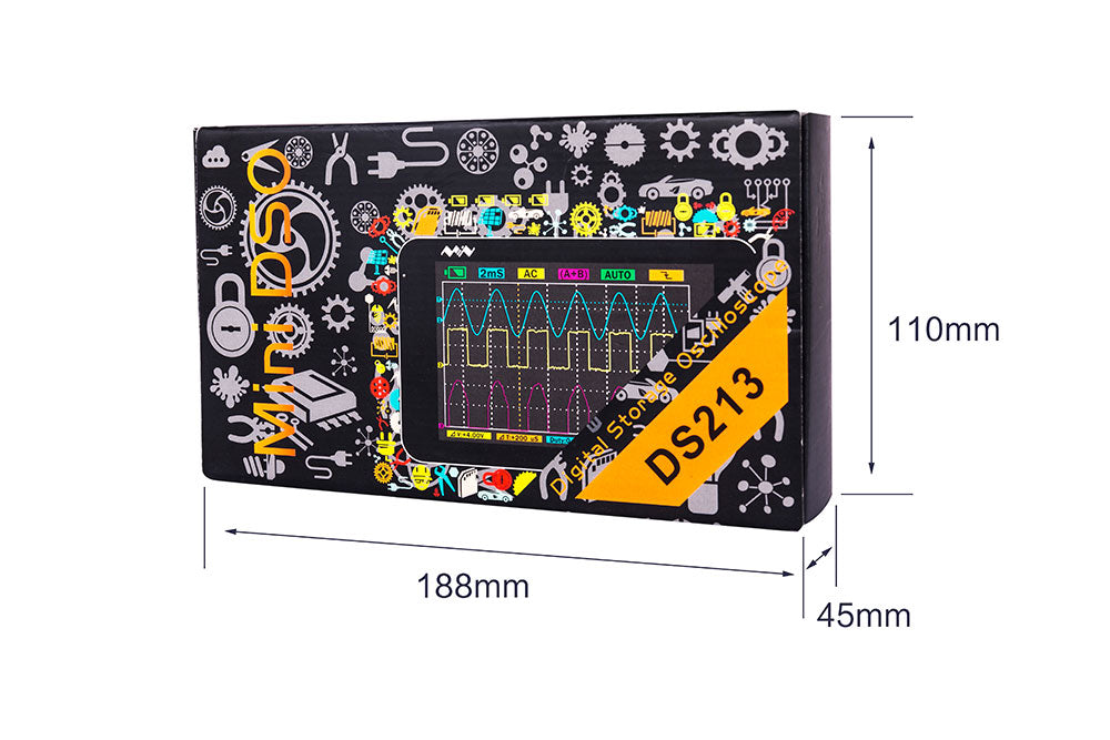 Portable LCD 4 channel Digital Oscilloscope DS213 15MHz 100MSa/s Models