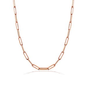 Chunky 10mm Gold Chain Medium Link Necklace 16 inches