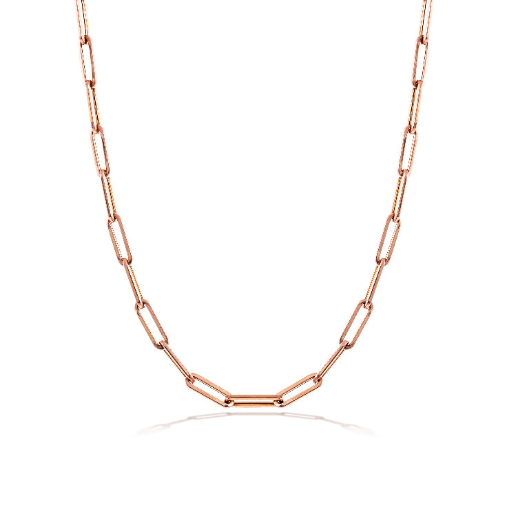 Rose Gold 10mm Chain Necklace